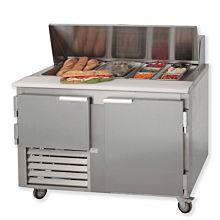 "Leader LM48 48"" Sandwich Prep Refrigerator, Bain Marie"