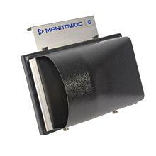Manitowoc K00461 NSF External Scoop Holder Wall or Bin Mount metal frame with plastic shield