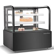 Black bakery display case 48 inch