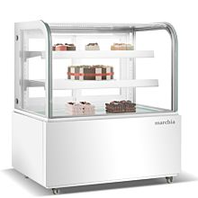White refrigerated bakery display case
