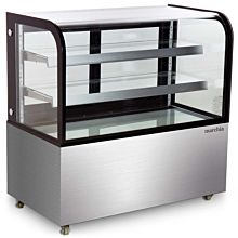 """Marchia MB48-D 48"""" Dry Non-Refrigerated Curved Glass Bakery Display Case"""