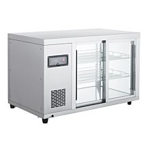 "Marchia MBB36 36"" Glass Sliding Door Back Bar Refrigerator"