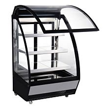"Marchia MBC36 36"" Lift-Up Front Curved Glass Refrigerated Bakery Display Case"