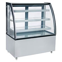 "Marchia MBT48 48"" Curved Glass Refrigerated Bakery Display Case"