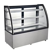 """Marchia MBT60 60"""" Curved Glass Refrigerated Bakery Display Case, High Volume"""