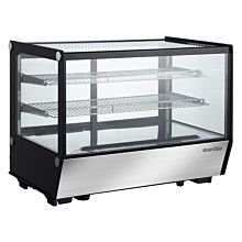 "Marchia MDC160-ST 36"" Refrigerated Straight Glass Countertop Display Case"