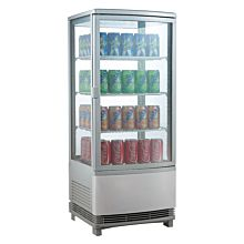 Marchia MDC78S Silver Countertop Refrigerated Glass Display Case