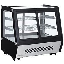 "Marchia MDCC125 28"" Refrigerated Countertop Dual Access Display Case"