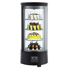 Marchia MDCR78 Refrigerated Countertop Rotating Cake Display Case with LED