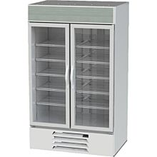 Beverage-Air MMF44-1-W-LED MarketMax 47 inch White Two Section Glass Door Merchandiser Freezer - 45 cu. ft.