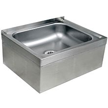 "Global MPS252110 25"" Stainless Steel Floor Mop Sink 6"" Bowl"