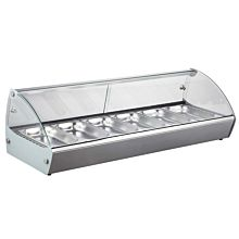 "Marchia MSB6 44"" Countertop Hot Food Display Warmer - 6 Pans"