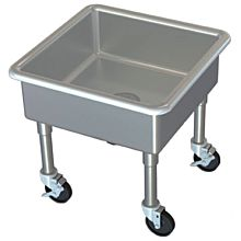 "Global MSS2626-12D 26"" Stainless Steel Mobile Mop Sink 12"" Bowl"