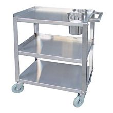 "Global PC1624-2 24"" Commercial Stainless Steel Heavy Duty Knock-down Cart with 2 Holes"