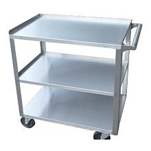 "Global PC1624 24"" Commercial Stainless Steel Heavy Duty Knock-down Cart"