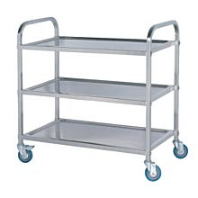 "Global PC2916 29"" Commercial Stainless Steel Symmetrical Knock-down Cart"