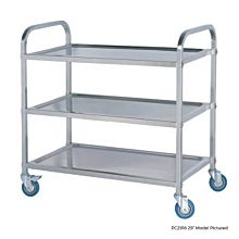 "Global PC3720 37"" Commercial Stainless Steel Symmetrical Knock-down Cart"