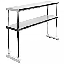 """Prepline PDOS-1470 14""""D x 70""""L Stainless Steel Double Tier Overshelf for SCLM3-HC"""