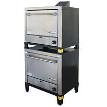 Peerless Oven C231B Gas Double-Stacked Bake Oven - 60000 BTU