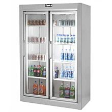 """Leader ESPF54R-OS 54"""" 2 Swing Glass Door Merchandiser Freezer, Stainless Steel, Remote (NEW UNUSED OVERSTOCK)"""