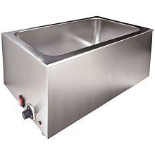 Prepline PFW500 Full-Size Electric Countertop Bain Marie Food Warmer - 110V, 1200W