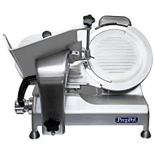 """Atosa PrepPal PPSL-12HD 12"""" Blade Heavy Duty Compact Manual Belt Driven Angled Gravity Feed Meat Slicer"""