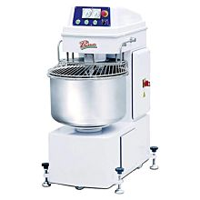 Primo PSM-80E 141-Quart Commercial Freestanding Twin Motor Dough and Flour Spiral Mixer with Timer