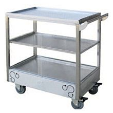 """Global PT-01 27"""" Commercial Stainless Steel Dim-Sum Trolley"""