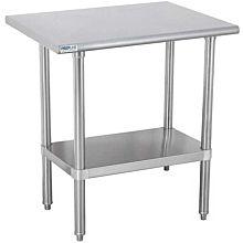 "Prepline PWTG-2424 24""D x 24""L Stainless Steel Worktable with Undershelf"