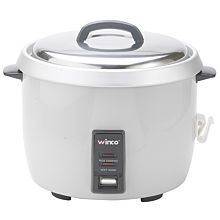 "Winco RC-P300 15"" Advanced 60 Cup (30 Cup Uncooked) 120V Electronic Rice Cooker"
