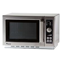 "Amana RCS10DSE 22"" Medium Volume 1000 Watts Commercial Compact Microwave, 120V"