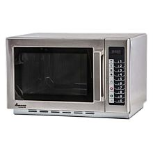 "Amana RCS10TS 22"" Medium Volume 1000 Watts Commercial Compact Microwave, 120V"