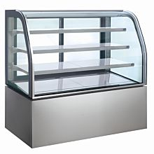"Coldline RS-0400 48"" Refrigerated Display Case, Curved Glass"