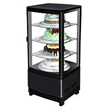 Marchia MDC78B Black Countertop Refrigerated Glass Display Case