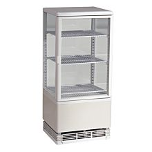 Marchia MDC78W White Countertop Refrigerated Glass Display Case