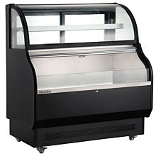 Marchia MSTAR-50  Refrigerated Open Display Case with Refrigerated Glass Top