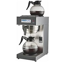 Prepline PCM2D-2 Pourover Coffee Maker with 2 Warmers and Coffee Decanters - 120V