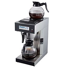 Prepline PCM2D-1 Pourover Coffee Maker with 2 Warmers and Coffee Decanters - 120V