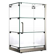 "Marchia SA60 16"" Vertical Countertop Dry Straight Glass Display Case"