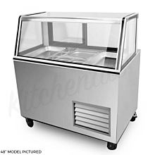 "Global SBC118 120"" Refrigerated Salad Bar, Insulated Glass, LED Lights, Sliding Rear Doors"