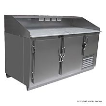"""Universal SC-96-DRT 96"""" Refrigerated Stainless Steel Dough Retarder Table"""