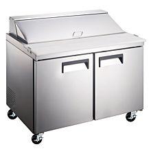 """48"""" Standard Top Bain Marie Sandwich Prep Refrigerator - 12 Pans"""