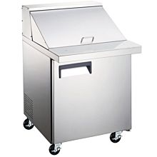 "27"" Mega Top Bain Marie Sandwich Prep Refrigerator - 9 Pans"