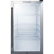 """Summit SCR486L 19"""" Freestanding Compact-Size Beverage Merchandiser Refrigerator Black"""