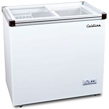 "Coldline SD180 34"" Flat Glass Top Display Ice Cream Freezer"