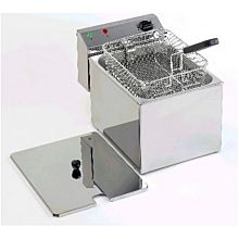 Eurodib SFE01860-220 3,200 Watt Electric Countertop Fryer, 240v, 1 Large Basket, 16 lb.