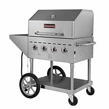 "Sierra SRBQ-30 49"" Stainless Steel Propane Gas Outdoor Grill with Dome Cover, 60,000 BTU"
