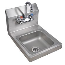 "Prepline PHS12 12"" Hand Sink, Wall Mount with Faucet, NSF"