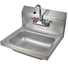 "Prepline PHS16 16"" x 16"" Hand Sink, Wall Mount with Faucet, NSF"