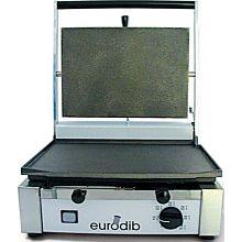 Eurodib Sirman CORT-F-220 Panini Sandwich Grill, Single, Flat Top & Bottom - 220v/1800w